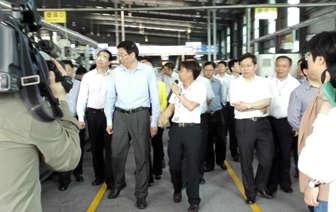 湘省委书记考察久隆旺 肯定企业质量管理