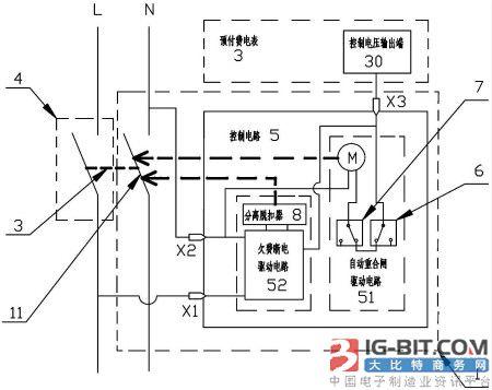 预付费电表专用断路器在原分励脱扣器型断路器内增加