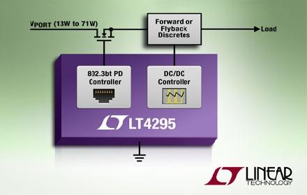 Linear推出IEEE 802.3bt受电设备(PD)接口控制器LT4295