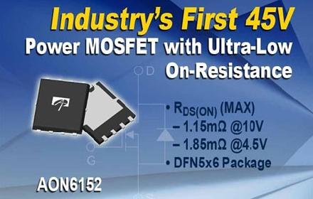 AOS推出45V耐抗雪崩MOSFET:AON6152