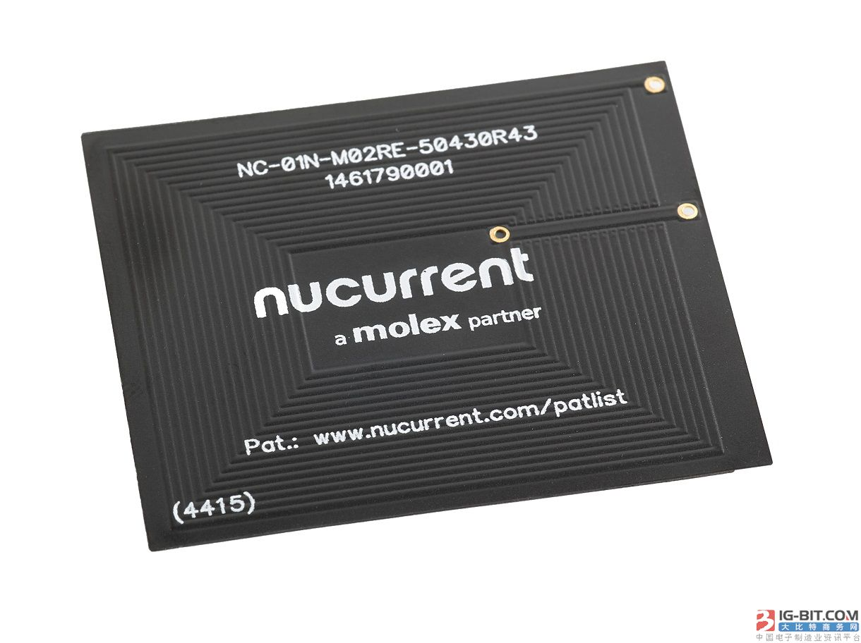 Molex PowerLife™ 无线电源线圈采用NuCurrent® 技术
