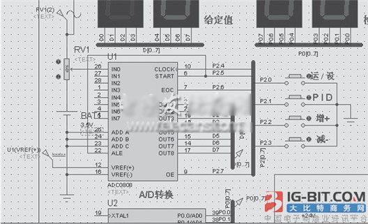 adc0809与单片机的连接电路