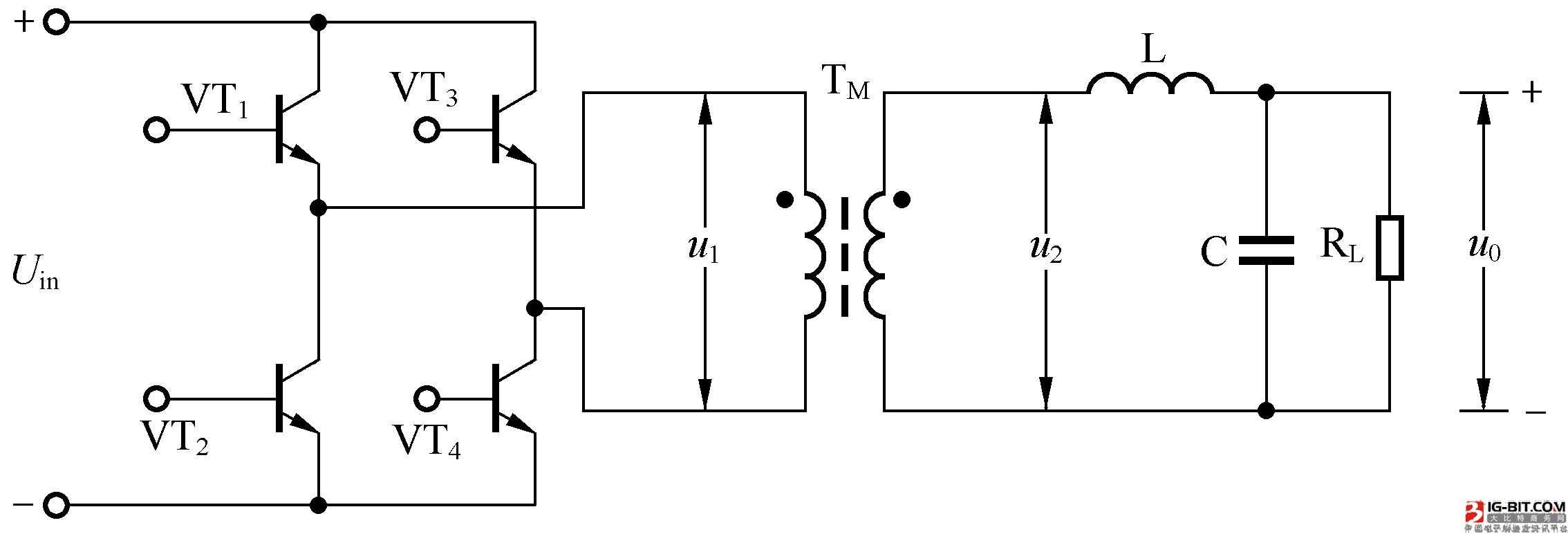图4:全桥式逆变电路