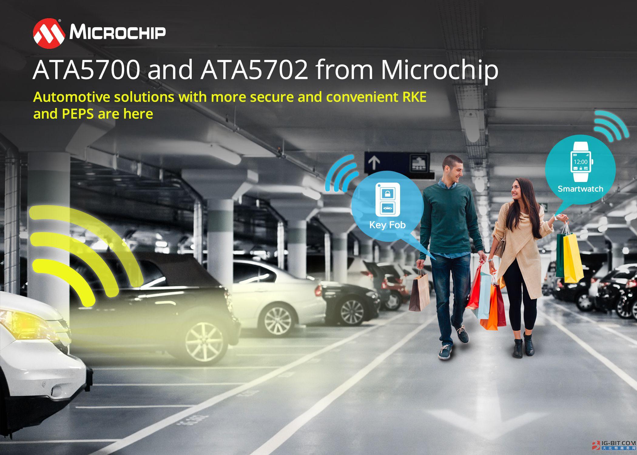 Microchip推出超低功耗汽车门禁解决方案,可用于智能钥匙和可穿戴设备