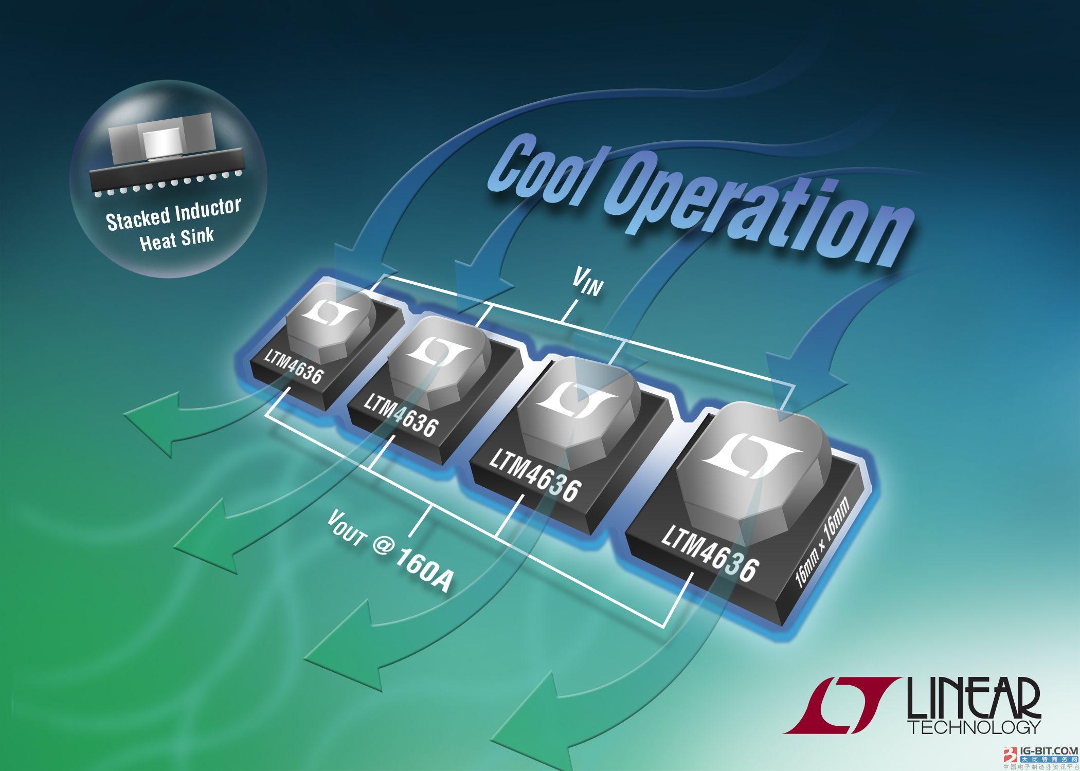 采用 3D 堆叠式电感器封装的 40A µModule 稳压器