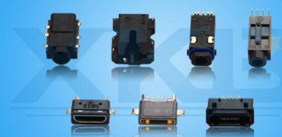 XKB星坤新品密封防水手机周边耳机插座MICRO连接器
