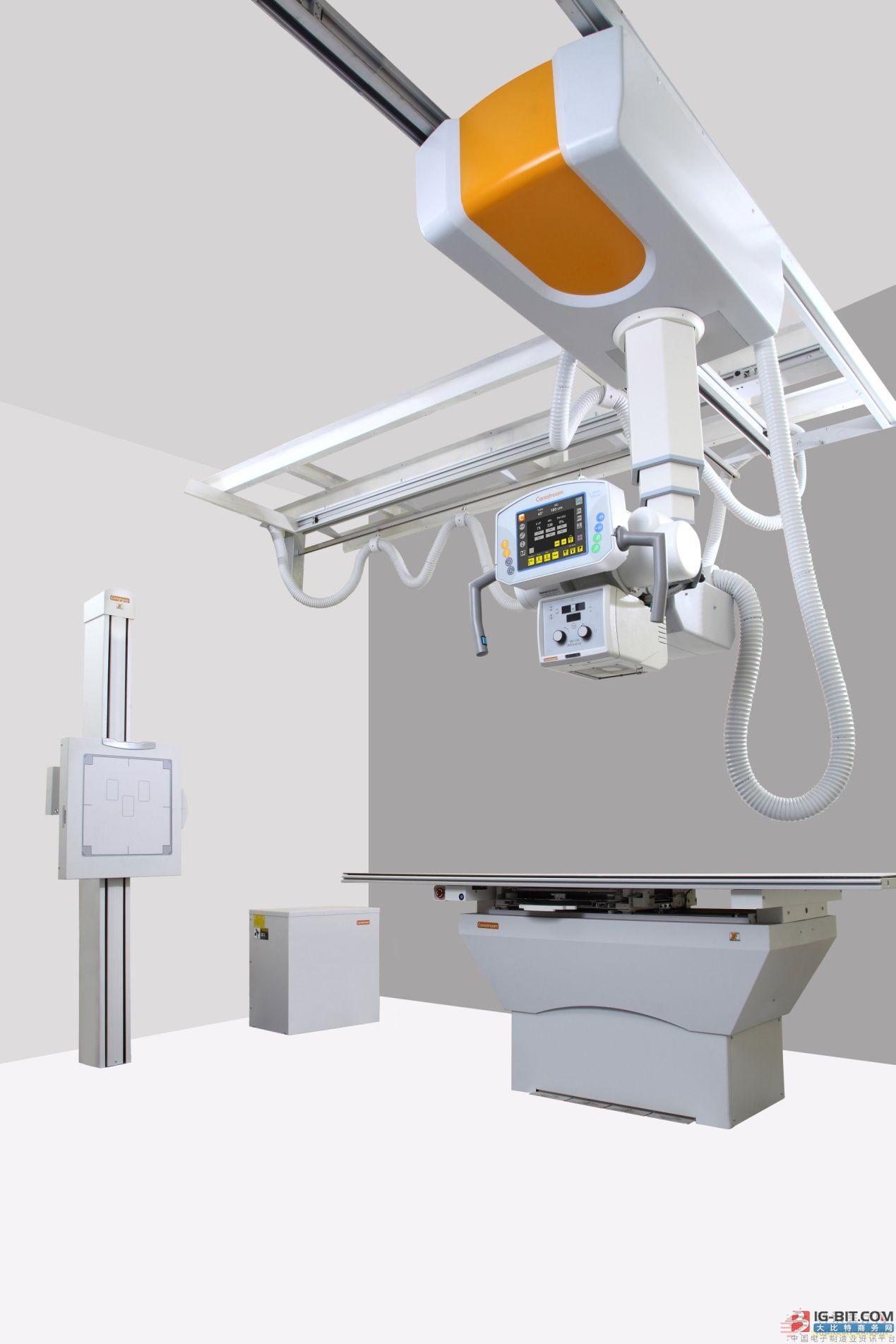锐珂CARESTRAM DRX数字X射线摄影成像解决方案 随着人口老龄化趋势和社会大众对自身健康的日益关注,医疗市场需求增长十分迅猛,放射科往往承担着医院诸多项目检查,工作量大、患者流动性强。如何让有限数量的医疗设备发挥最大价值,满足日益增长的医疗需求,为患者提供高质量的诊断服务,是中国广大医疗机构的管理者一直以来思考和探索的问题。 锐珂所有数字 X 光系统都具有可兼容、可扩展的特性,为满足客户当今需求以至未来的增长提供空间。DRX探测器可以与多台X光房DRX设备或移动DRX系统相匹配,利用可配置化的模