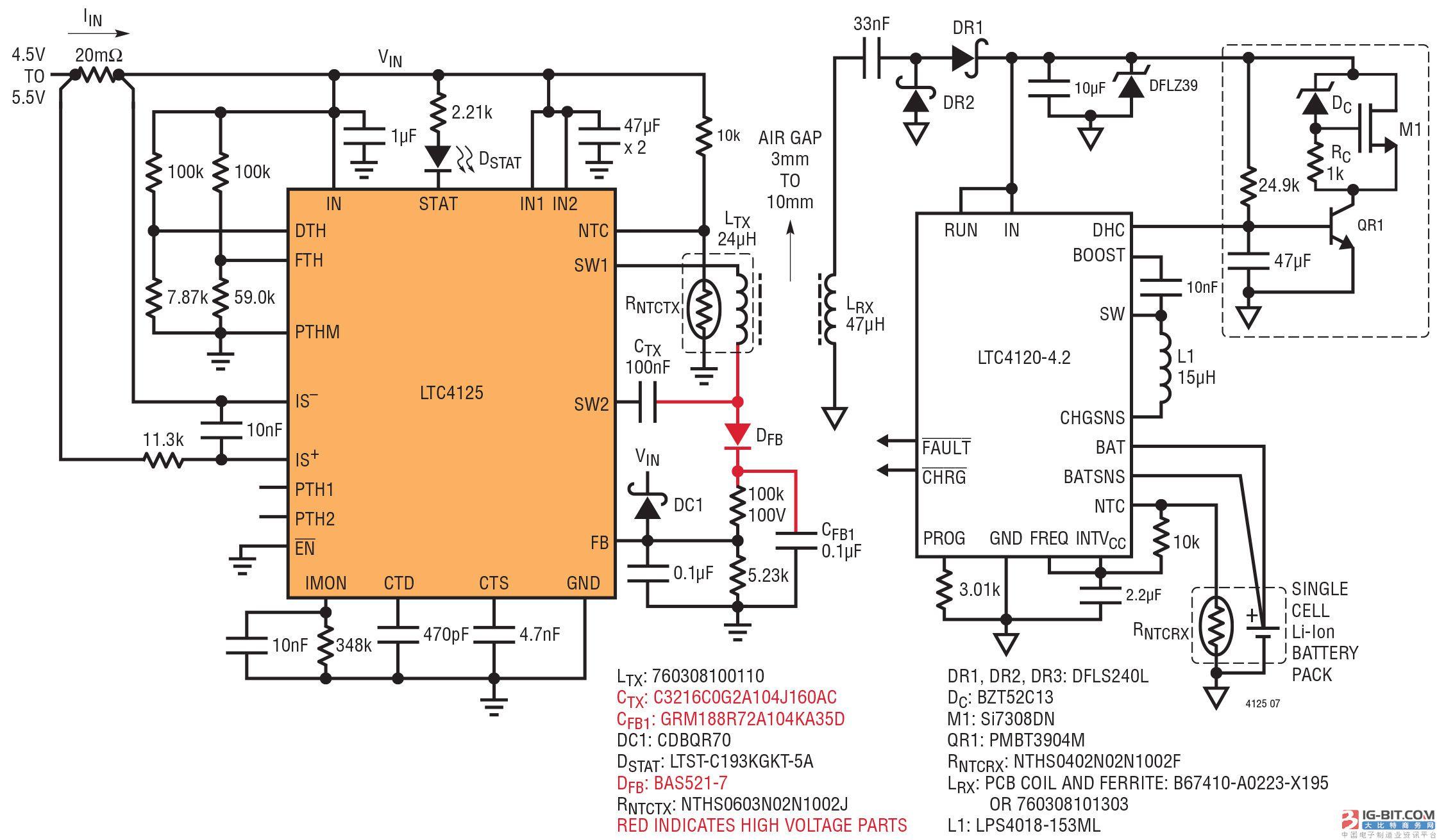 单片全桥式 AutoResonant 发送器 IC