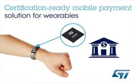 ST携手移动支付合作伙伴,开发一站式预认证穿戴设备解决方案