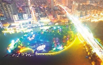 """南塘景区完成夜景照明提升 """"夜南塘""""流光溢彩"""