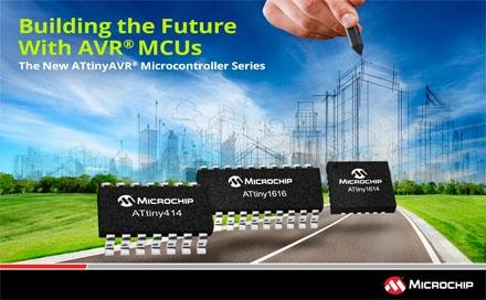 Microchip推出三个新的tinyAV RMCU系列