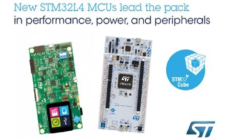 意法半导体新STM32L4微控制器性能和能效领跑超低功耗阵营