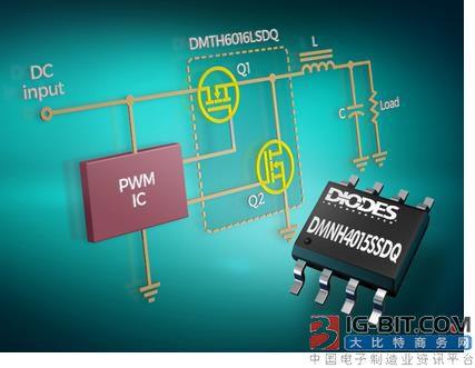 Diodes推出低功耗高性价比汽车用双通道MOSFET