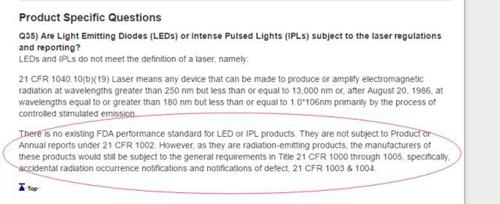 LED产品出口需要FDA认证?这是谣言