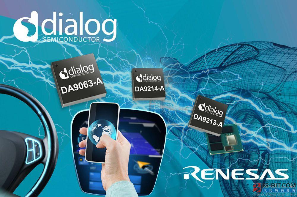 Dialog公司为瑞萨电子的汽车SoC提供首选电源解决方案