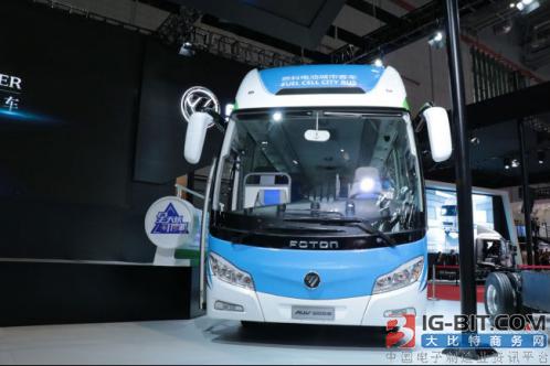 上海车展氢燃料电池车抢眼球