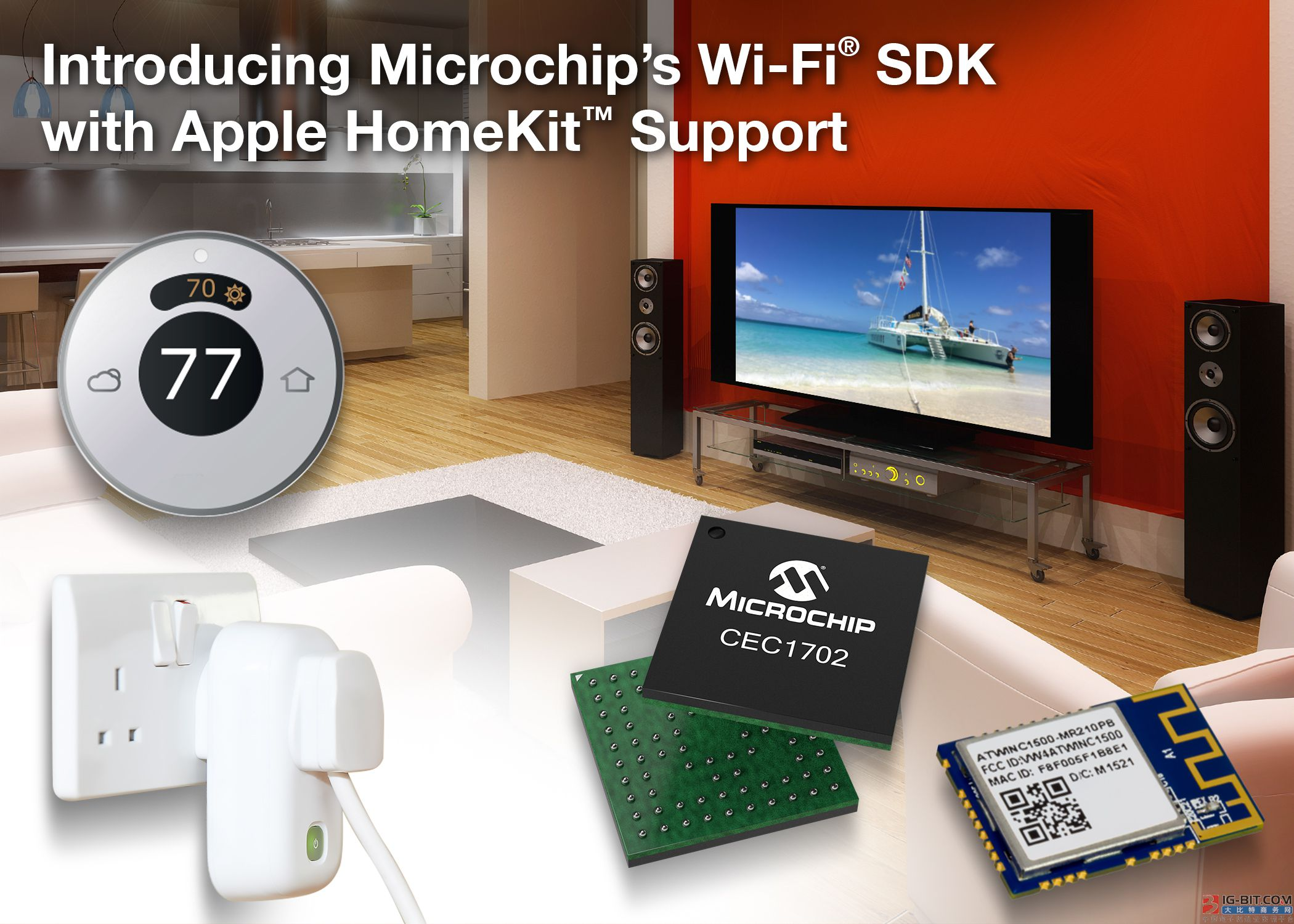 Microchip推出支持Apple HomeKit的Wi-Fi® SDK