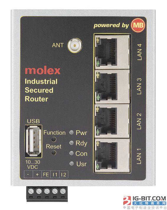 Molex与MB Connect Line 联手提供远程访问解决方案