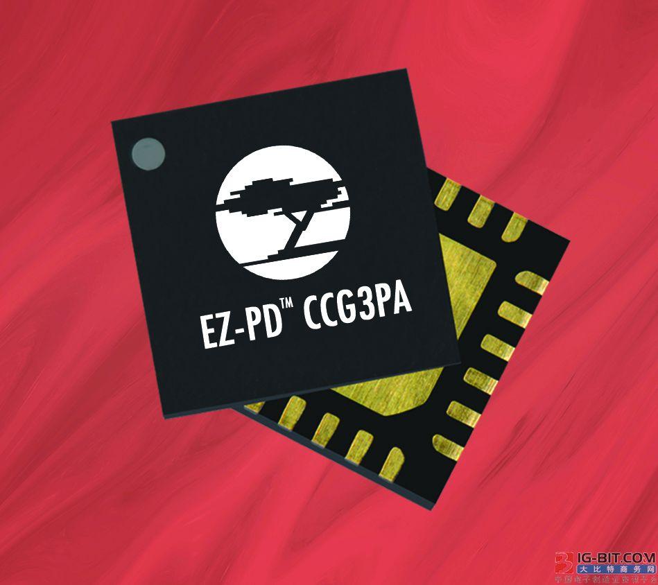 赛普拉斯全新高集成度控制器简化USB-C 电源适配器和充电器的设计