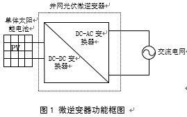 光伏微逆变器前级磁集成高增益直流变换器研究