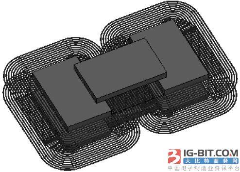含磁芯非接触变压器的优化设计研究