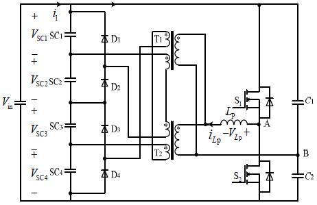 半桥变换器与次序耦合变压器的超级电容均压