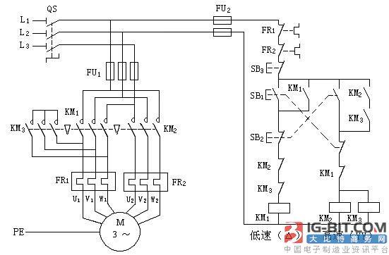 双速电动机自动变速控制原理图、调速理论基础