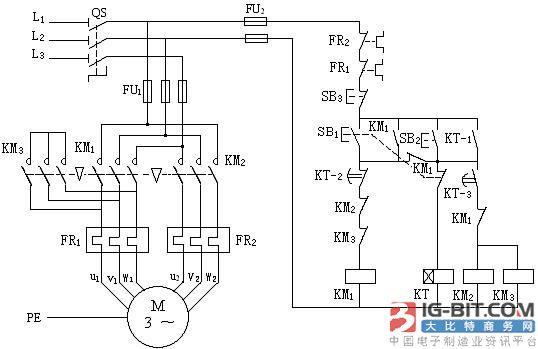 时间继电器自动控制 求时间继电器定时设置的原理、及其电路图 时间继电器是一种利用电磁原理或机械原理实现延时控制的控制电器。它的种类很多,有空气阻尼型、电动型和电子型和其他型等。早期在交流电路中常采用空气阻尼型时间继电器 ,它是利用空气通过小孔节流的原理来获得延时动作的。它由电磁系统、延时机构和触点三部分组成。 时间继电器凡是继电器感测元件得到动作信号后,其执行元件(触头)要延迟一段时间才动作的继电器称为时间继电器 目前最常用的为大规模集成电路型成的时间继电器,它是利用阻容原理来实现延时动作。在交流电路中