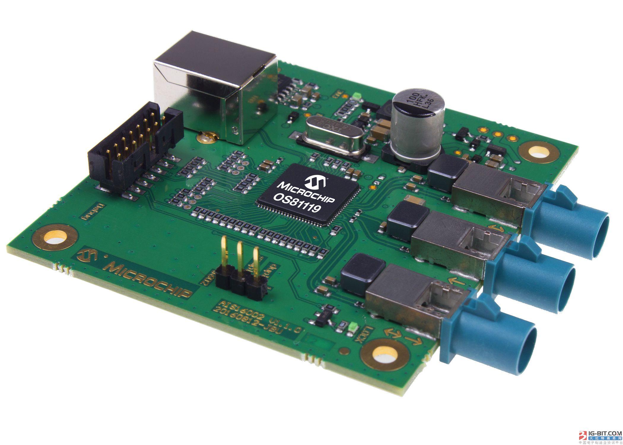 采用MOST®技术的全新智能网络接口控制器支持在汽车应用中实现菊花链通信