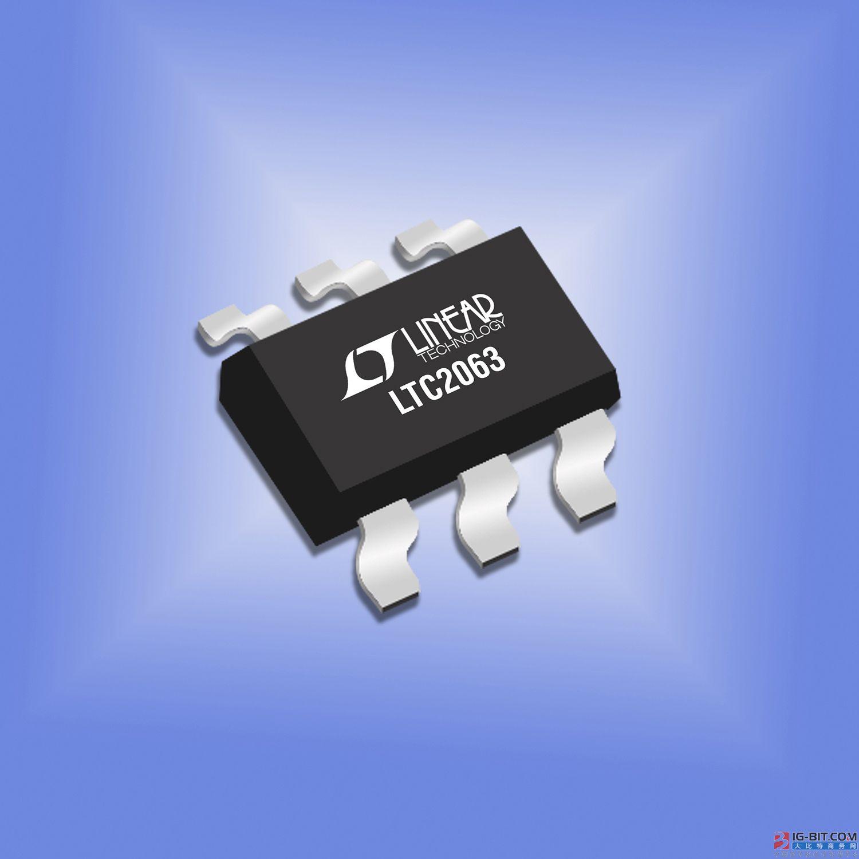 业界最低功耗零漂移运算放大器仅消耗1.3μA电流
