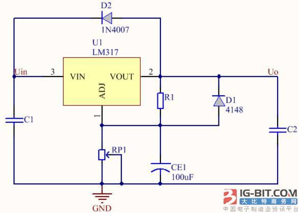 lm317的基本保护电路