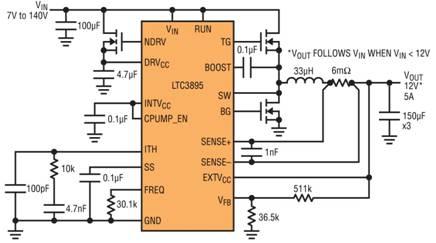 高压 IC 可取代汽车浪涌抑制器件  凌力尔特公司(现隶属 Analog Devices 公司)