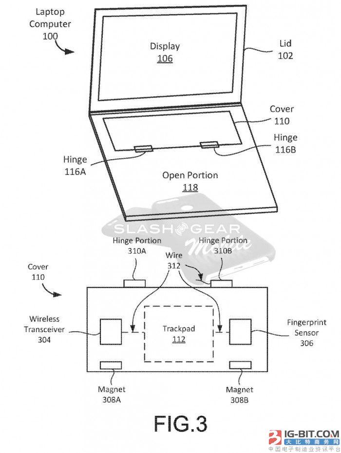 谷歌笔记本新专利:平板模式下磁性铰链可覆盖键盘区域【图】