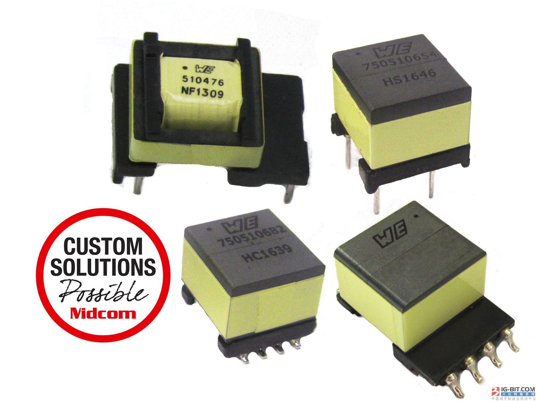 伍尔特电子推出MID-PLC系列自屏蔽变压器