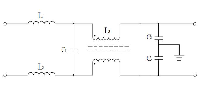 图2 emi滤波器电路