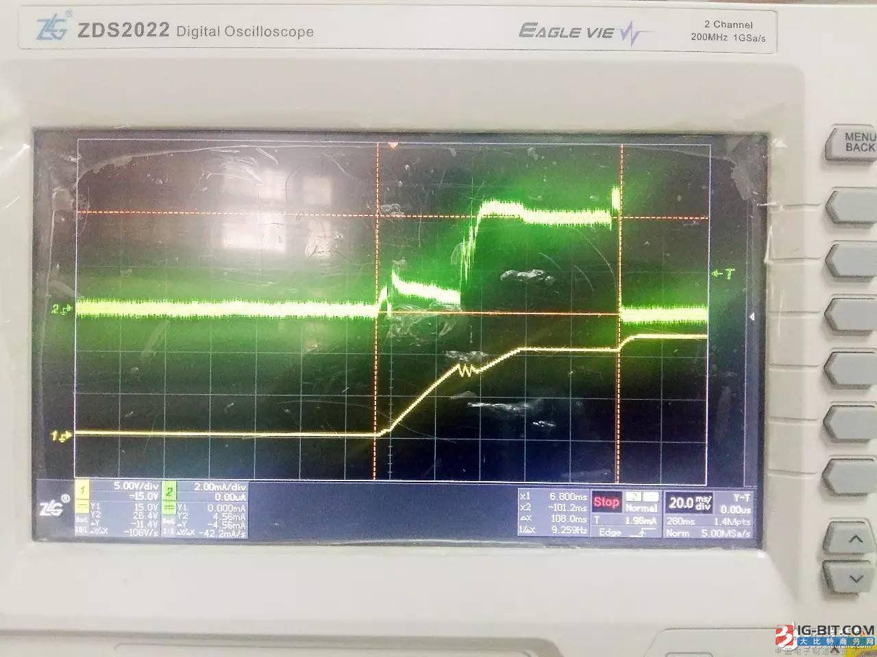 图3 实验电路波形图