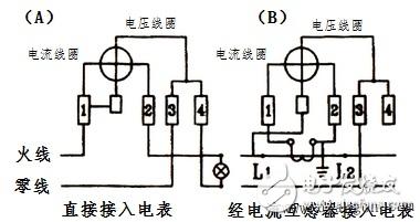 单相电子电表接线图-单相电表互感器的作用 原理及接线方法图片