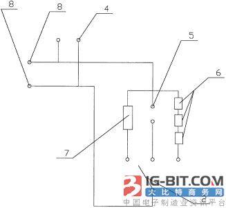 图为电能表通信接口带载能力检测装置的电路图