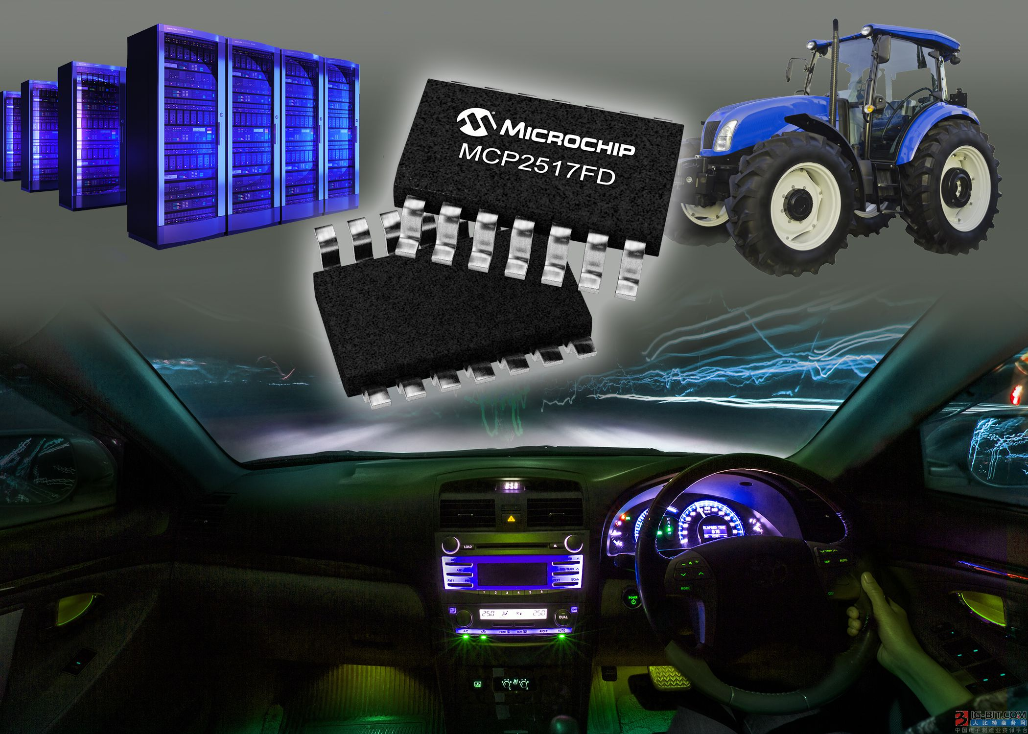 Microchip独特的外部CAN FD控制器支持在现有和新设计中实现灵活的CAN数据速率(CAN FD)