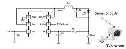 技术文献 > 正文  图1所示为tps54200的简化电路原理图,驱动一系列