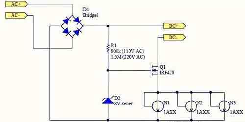 采用N501的低成本LED日光灯驱动方案