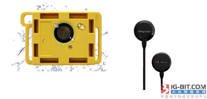 磁连接无线充电和数据传输