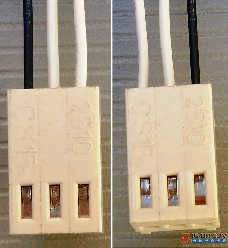 没有引脚标记的连接器,哪个脚是pin 1