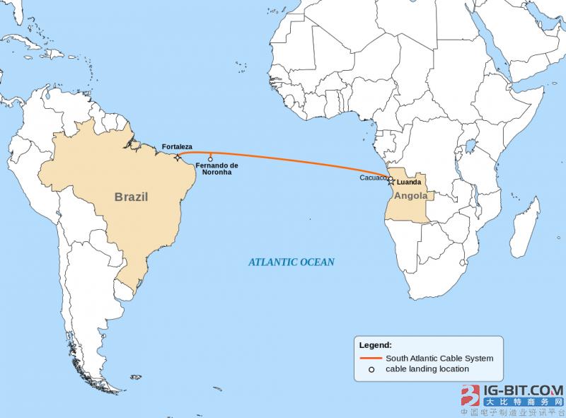 南大西洋海底光缆系统进入最后敷设阶段