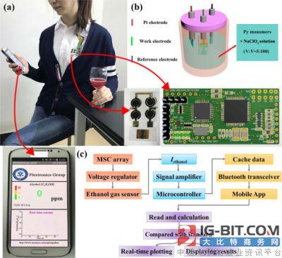 半导体所在柔性自驱动气体传感与显示系统研究中获进展