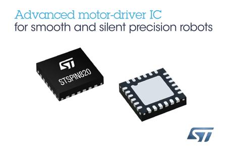 意法半导体(ST)先进电机控制芯片让自动化系统尺寸更小,运行更顺畅、更安静