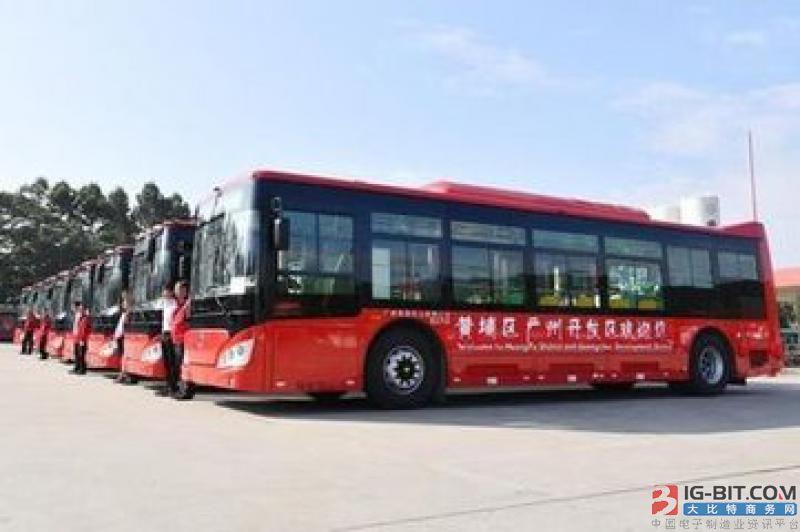 广州首批438辆纯电动车黄埔开跑 预计明年全部投放营运