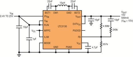 凭借新的超低 IQ 降压-升压型转换器超越传统供电方案