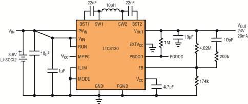 传感器与 24v 电压轨断接,或关断以最大限度减小 24v 输出电容器的