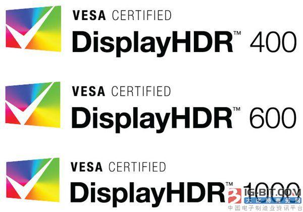DisplayHDR 1.0标准发布 首批认证产品明年1月亮相